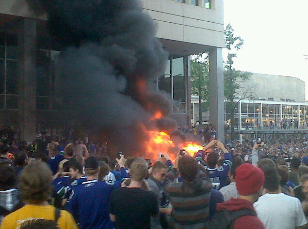 Vancouver sommosse post partita - Riot Vancouver