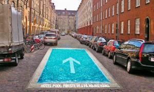 Guerrilla marketing, piscina