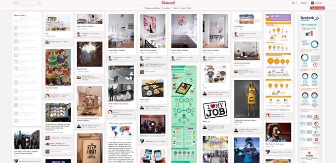 Home page di Pinterest