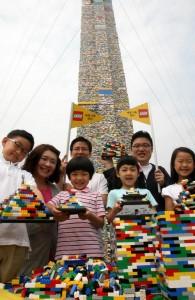 La torre Lego più alta del mondo