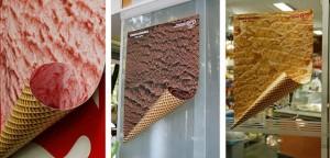 Pubblicità cono gelato