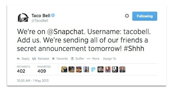 Taco-Bell-tweet-about-Snapchat