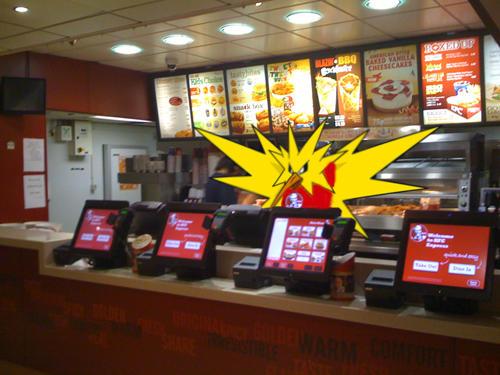 Pokémon all'interno di un fast-food