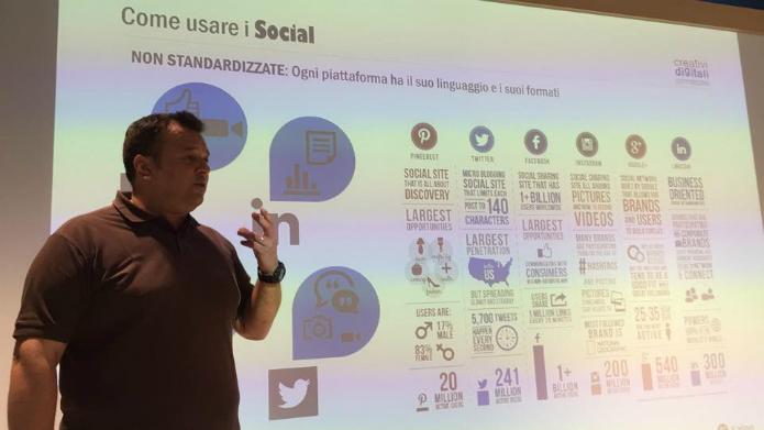 E-Commerce:Daniele Giudici durante la sua presentazione