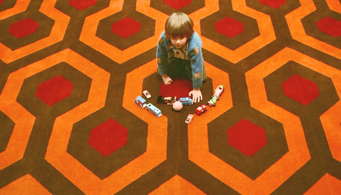 "Simmetria: Jack Nicolson in ""Shining"""
