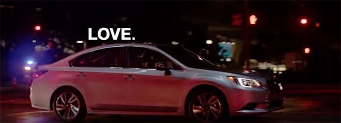 sicurezza stradale - auto subaru, scritta love