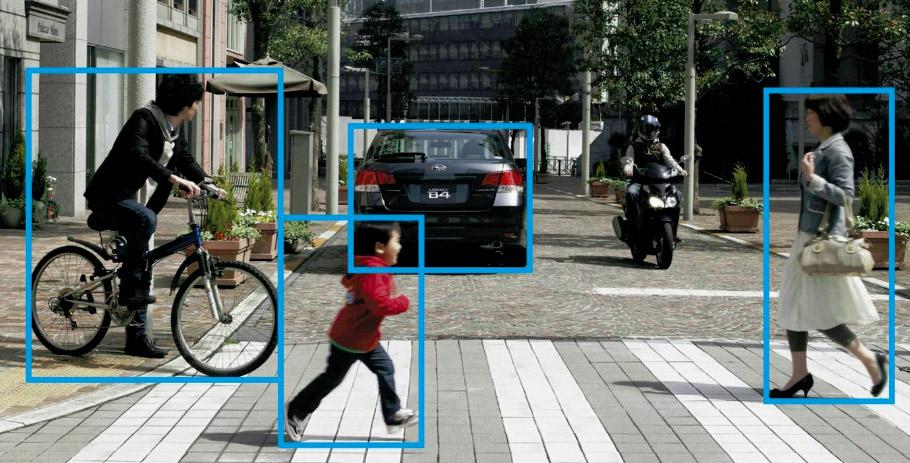 sicurezza stradale - Riconoscimento di ostacoli con il sistema EyeSyght