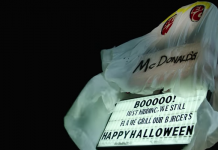 Halloween: Burger King vestito da mc Donald's