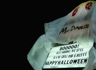 Halloween: Burger King vestito da mc Donald's